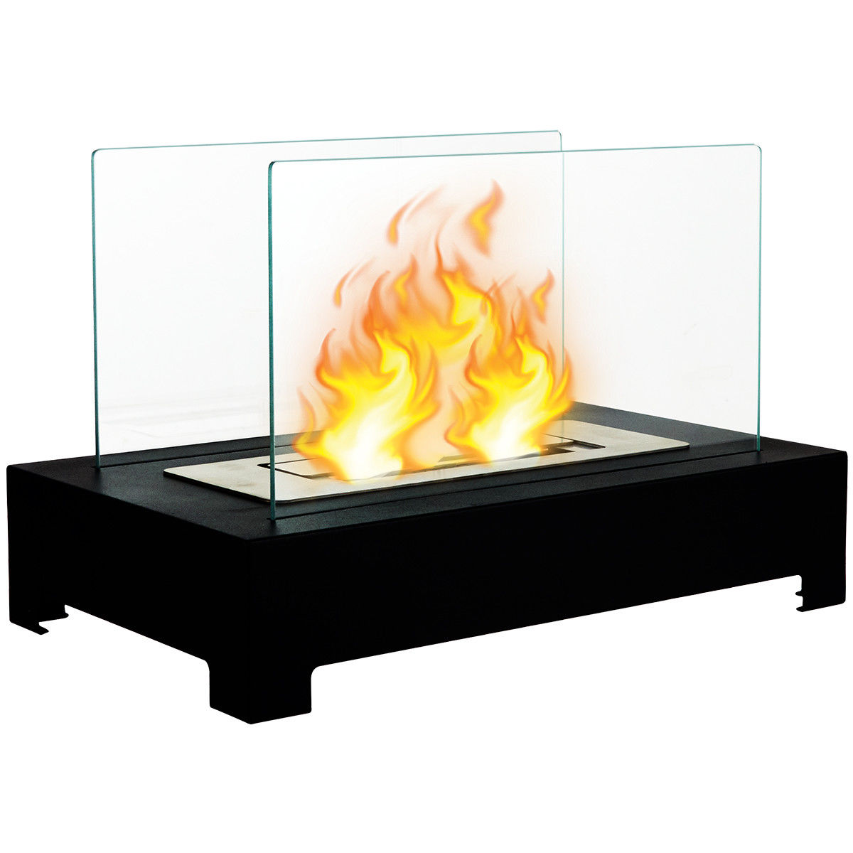 Ethanol Fireplaces Reviews Gymax Tabletop Ventless Bio Ethanol Fireplace Stainless Steel Pedestal Portable