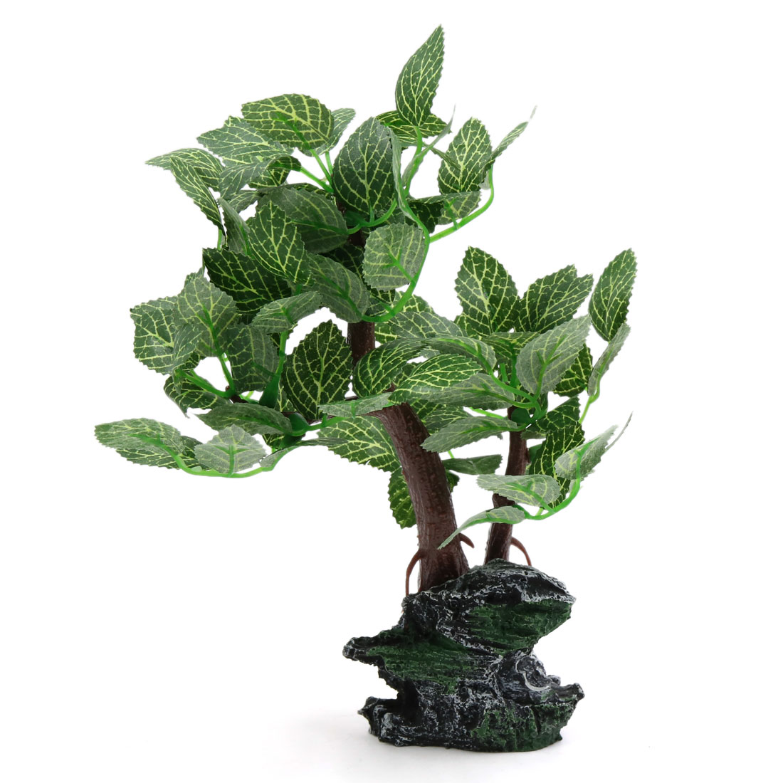 Lifelike Plants Green Plastic Lifelike Plant Decorative Ornament Aquarium