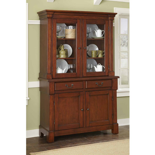 Home Styles Aspen Collection Buffet and Hutch - Walmart.com