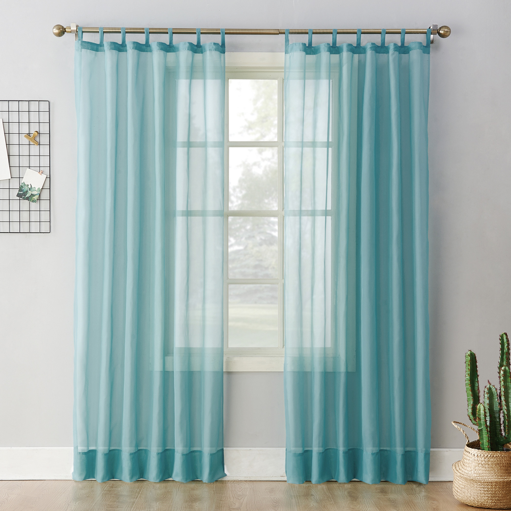 Tab Top Curtain No 918 Emily Sheer Voile Tab Top Curtain Panel