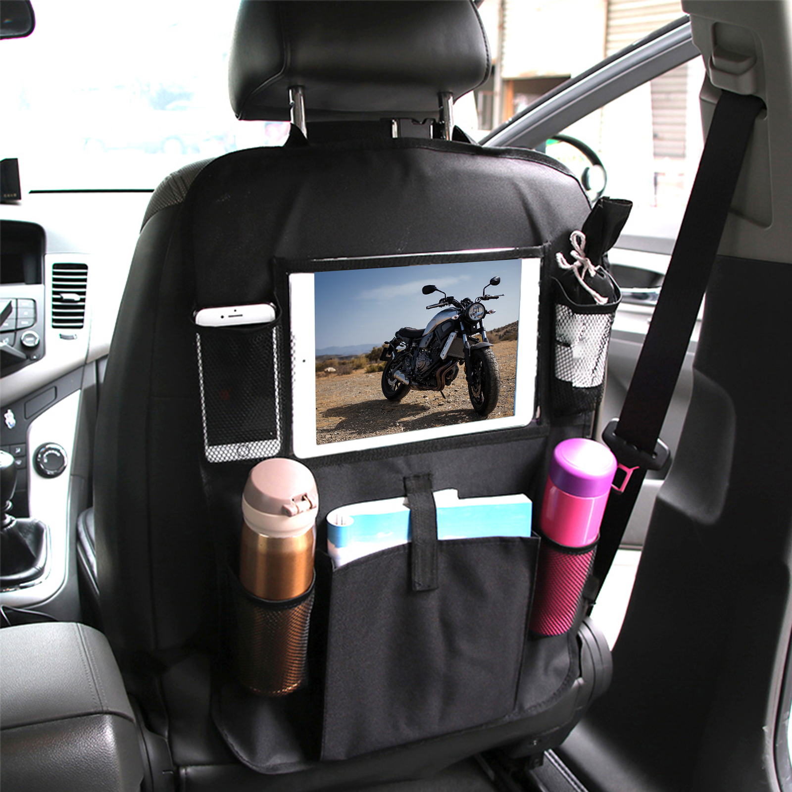 Auto Organizer Tablet Tsv Kick Mats Car Backseat Organizer Black Baby Child Kids Auto Back Of Seat Protector Vehicle Waterproof Seat Back Kick Protectors