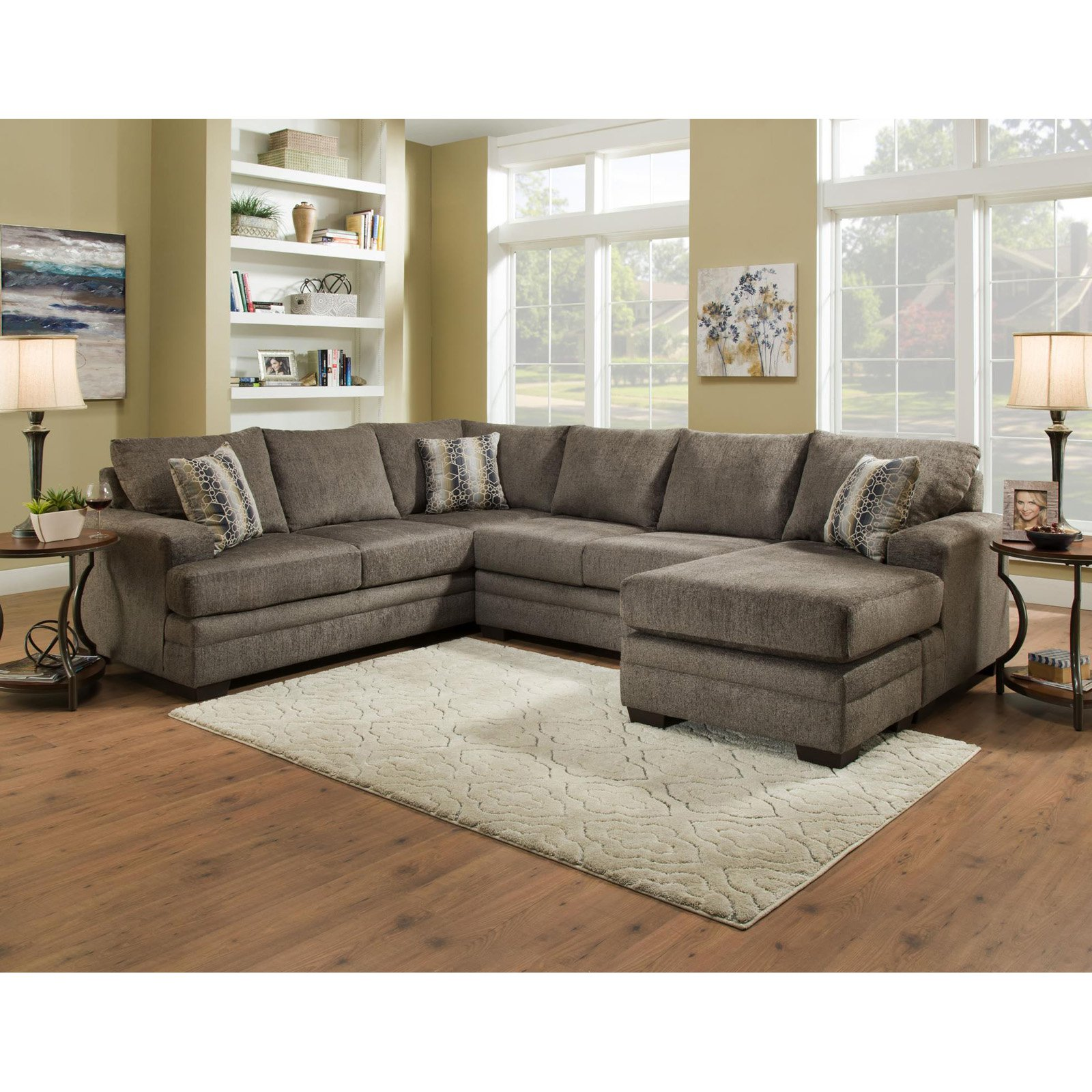 U Couch Chelsea Home Furniture Campbell 3 Piece U Shaped Sectional Sofa