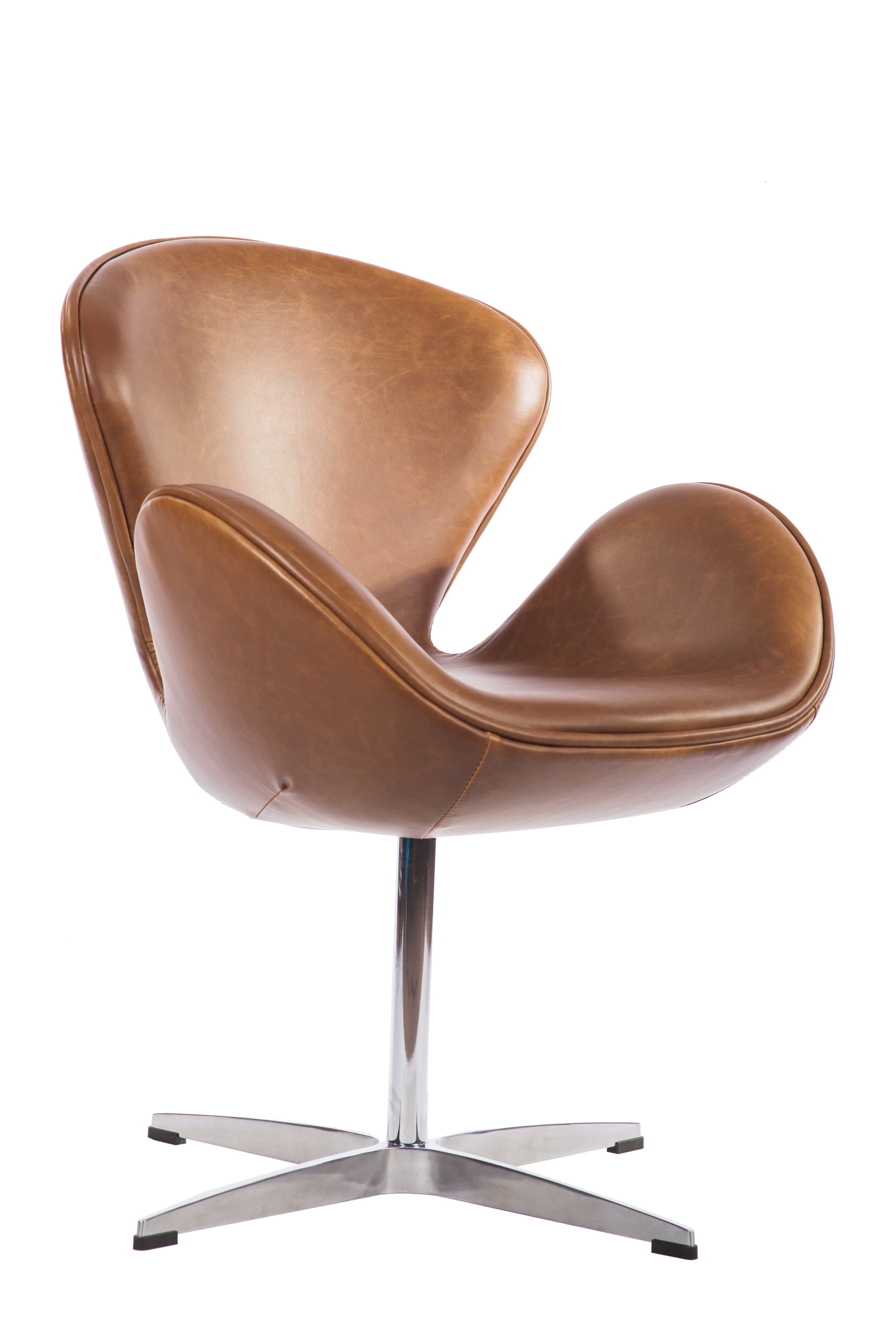 Mid Century Classic Arne Jacobsen Style Swan Replica Chair With Pu Leather Walmart Com Walmart Com