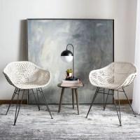 Safavieh Jadis Modern Glam Leather Woven Dining Chair, Set ...