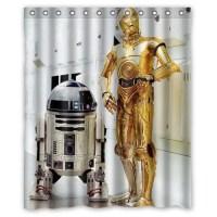 DEYOU Star Wars Shower Curtain Polyester Fabric Bathroom ...