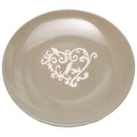 ZiaBella 8'' Heart Scroll Dinner Plate (Set of 4 ...