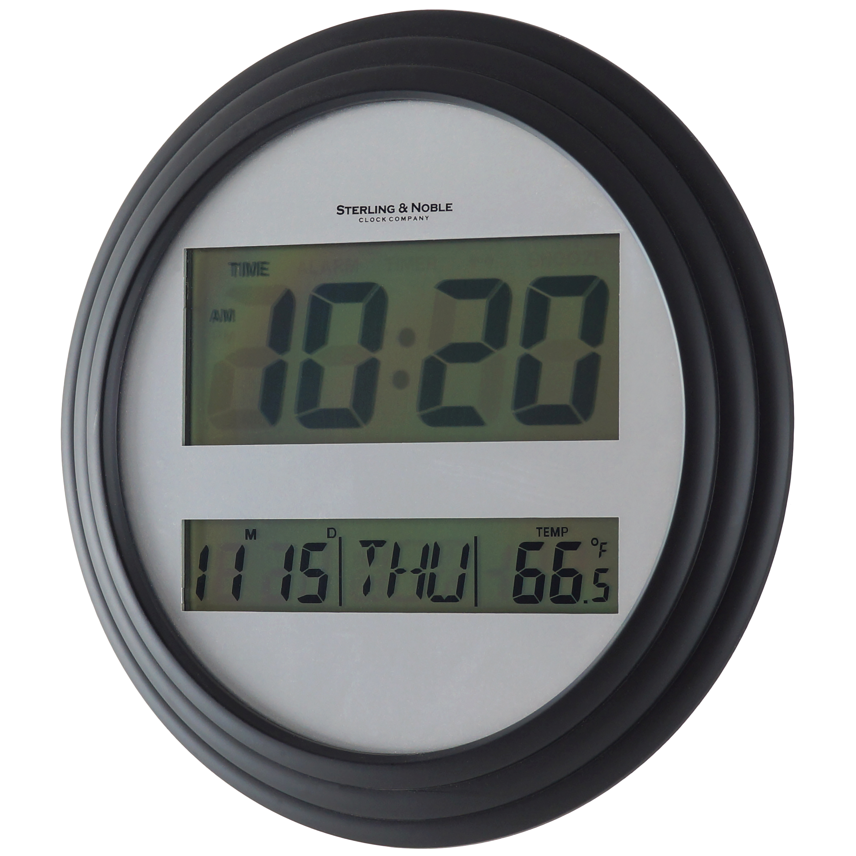 Black Wall Clock Mainstays Digital Wall Clock Black
