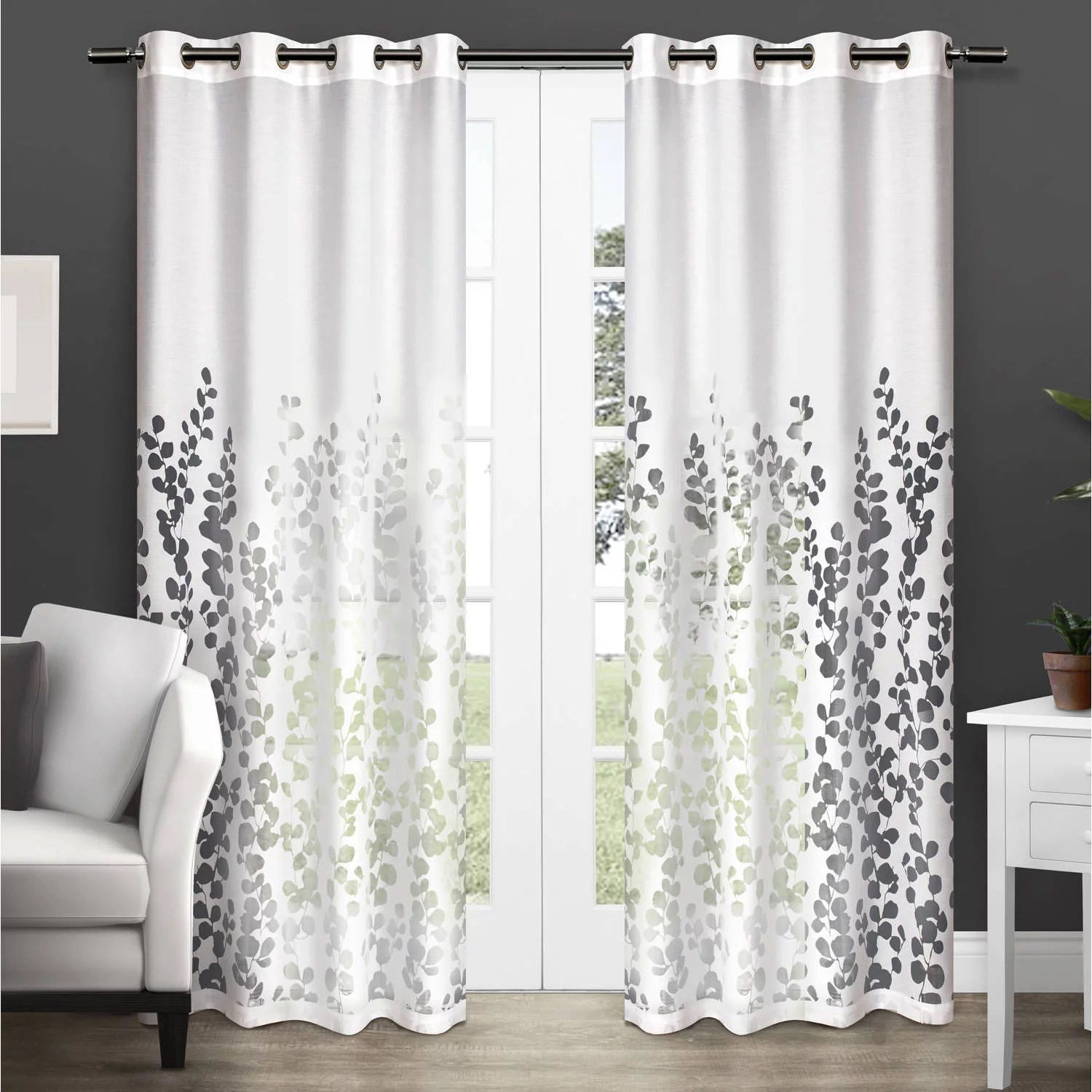 Sheer Curtains Australia Exclusive Home Curtains 2 Pack Wilshire Burnout Sheer Grommet Top Curtain Panels