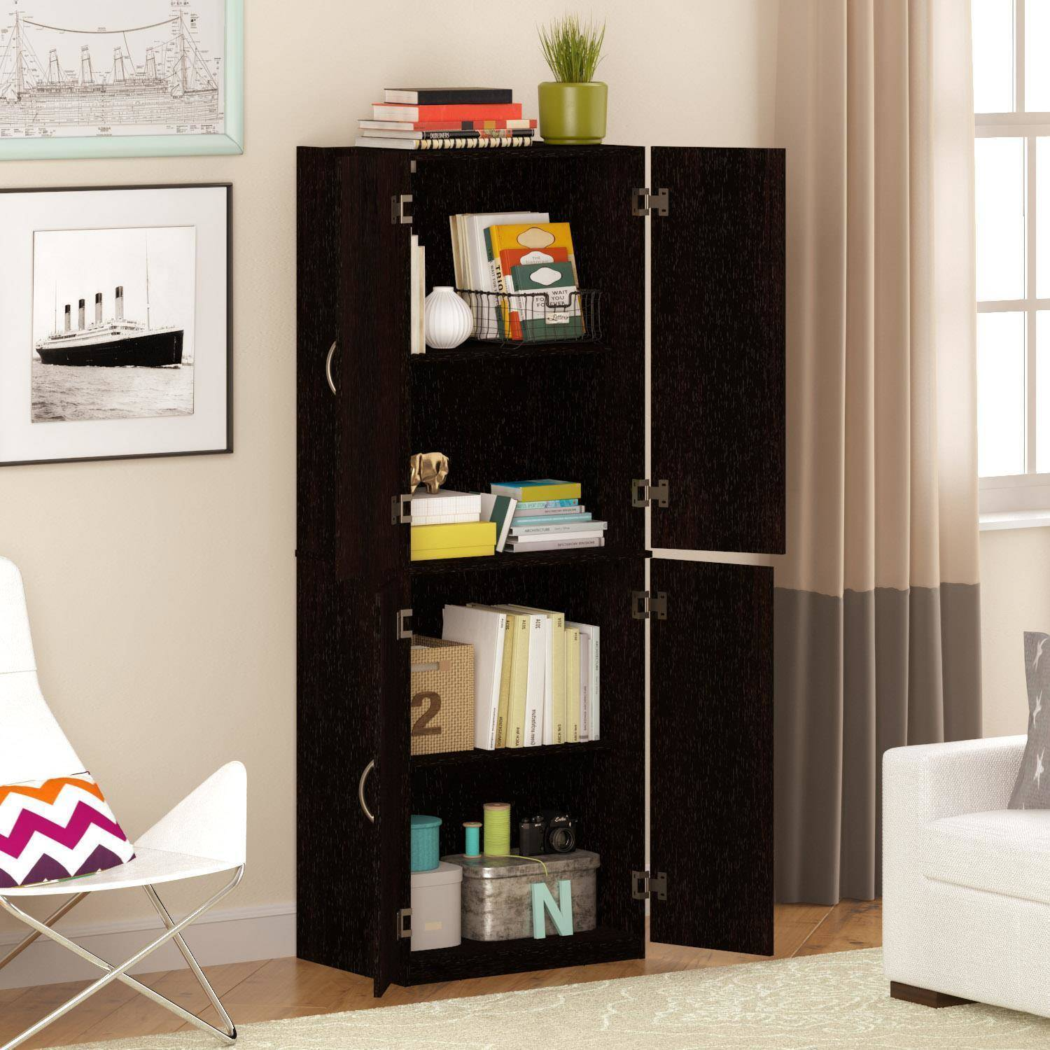 Garage Cabinets By George Mainstays Storage Cabinet Multiple Finishes Walmart