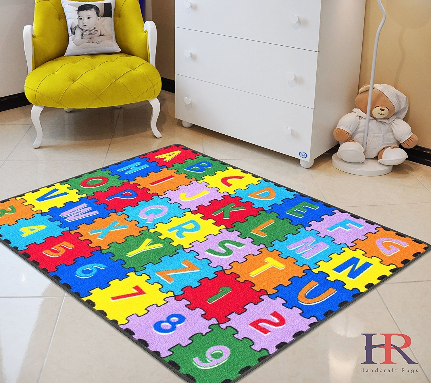 Rugs For Kids Handcraft Rugs Kids Rugs Driving Skills Play Time Street Map Rubber Back Non Slip Ideal For Classroom Kids Room
