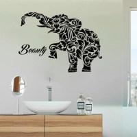 Stickalz llc Beauty Salon Wall Decals Elephant Vinyl ...