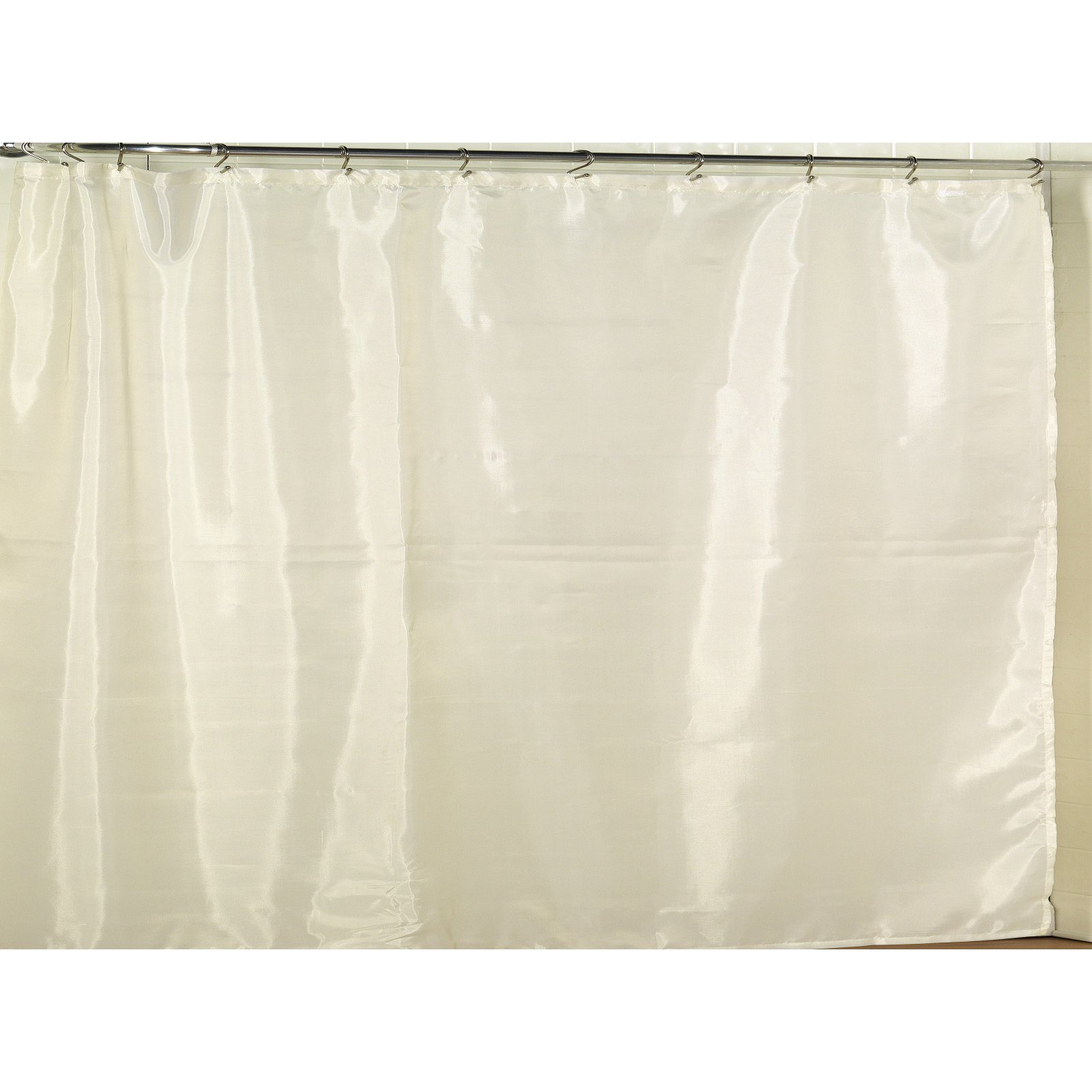 108 Long Shower Curtain Extra Wide Polyester Fabric Shower Curtain Liner In Ivory
