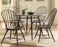 5-Pc Modern Round Dining Table Set - Walmart.com