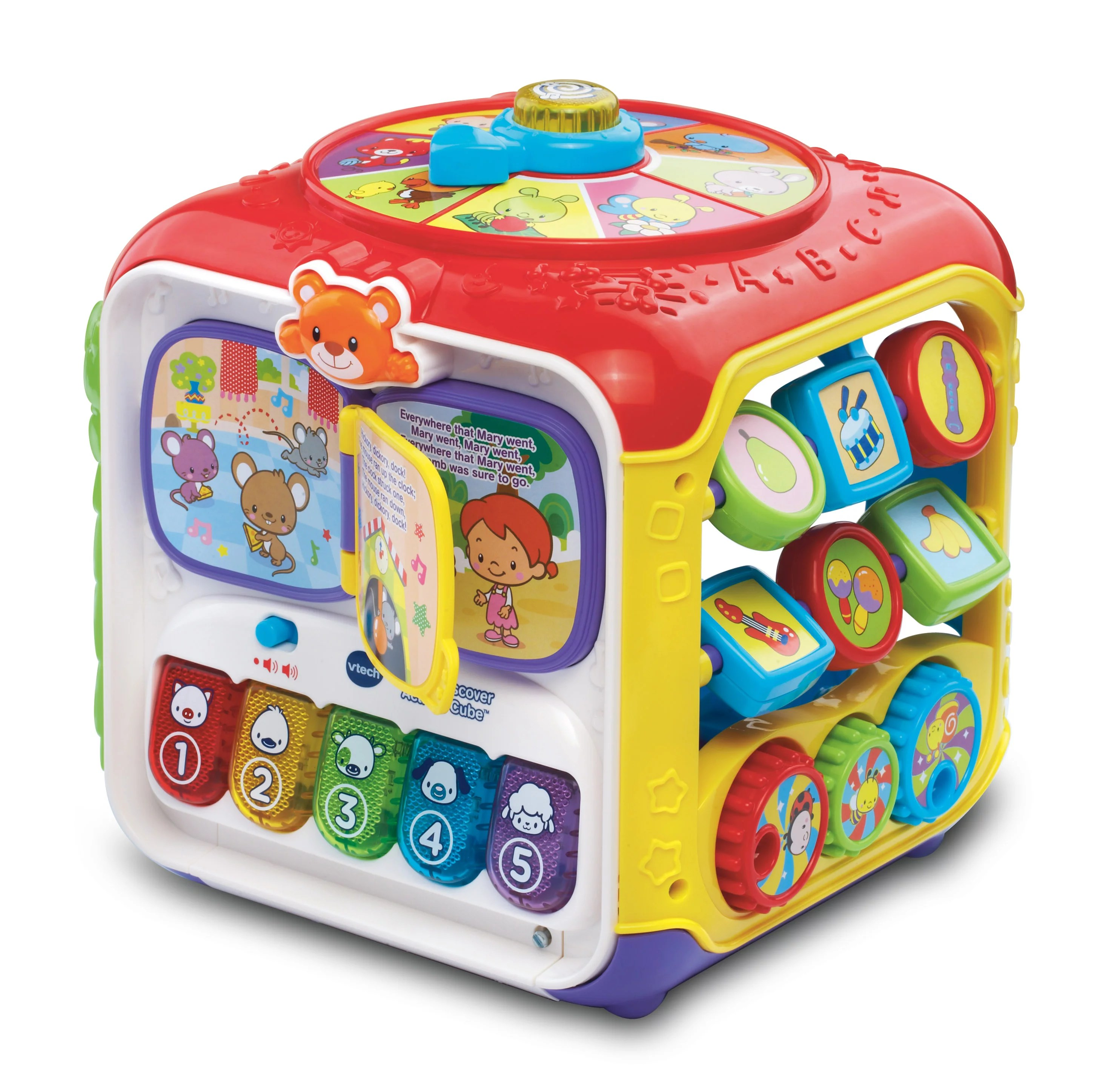 Babies Interactive Toys Best Choice Products Kids Toddlers Musical Activity Cube Play Toy W 15 Functions Lights And Sounds Multicolor