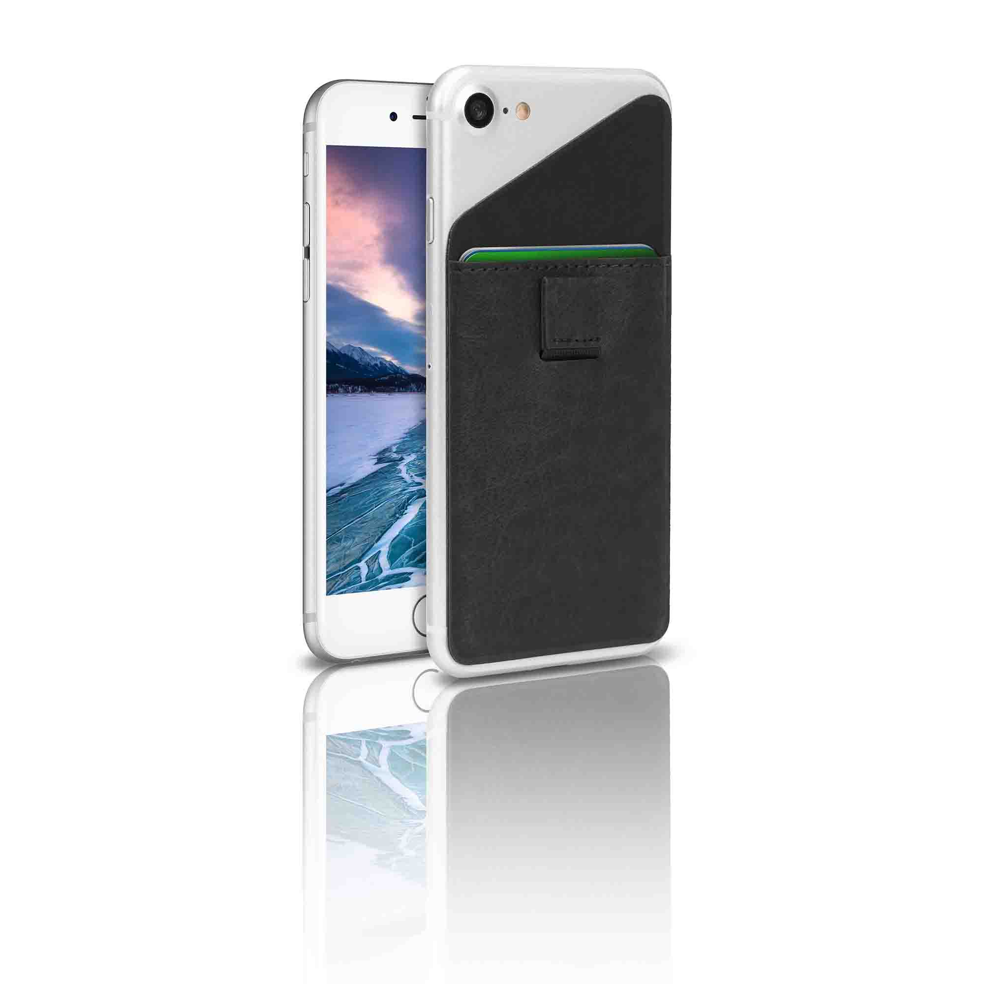 Phone Accessory Blackweb Universal Phone Accessory Card Wallet Stick On The Back Of Your Phone To Securely Hold Up To 3 Cards