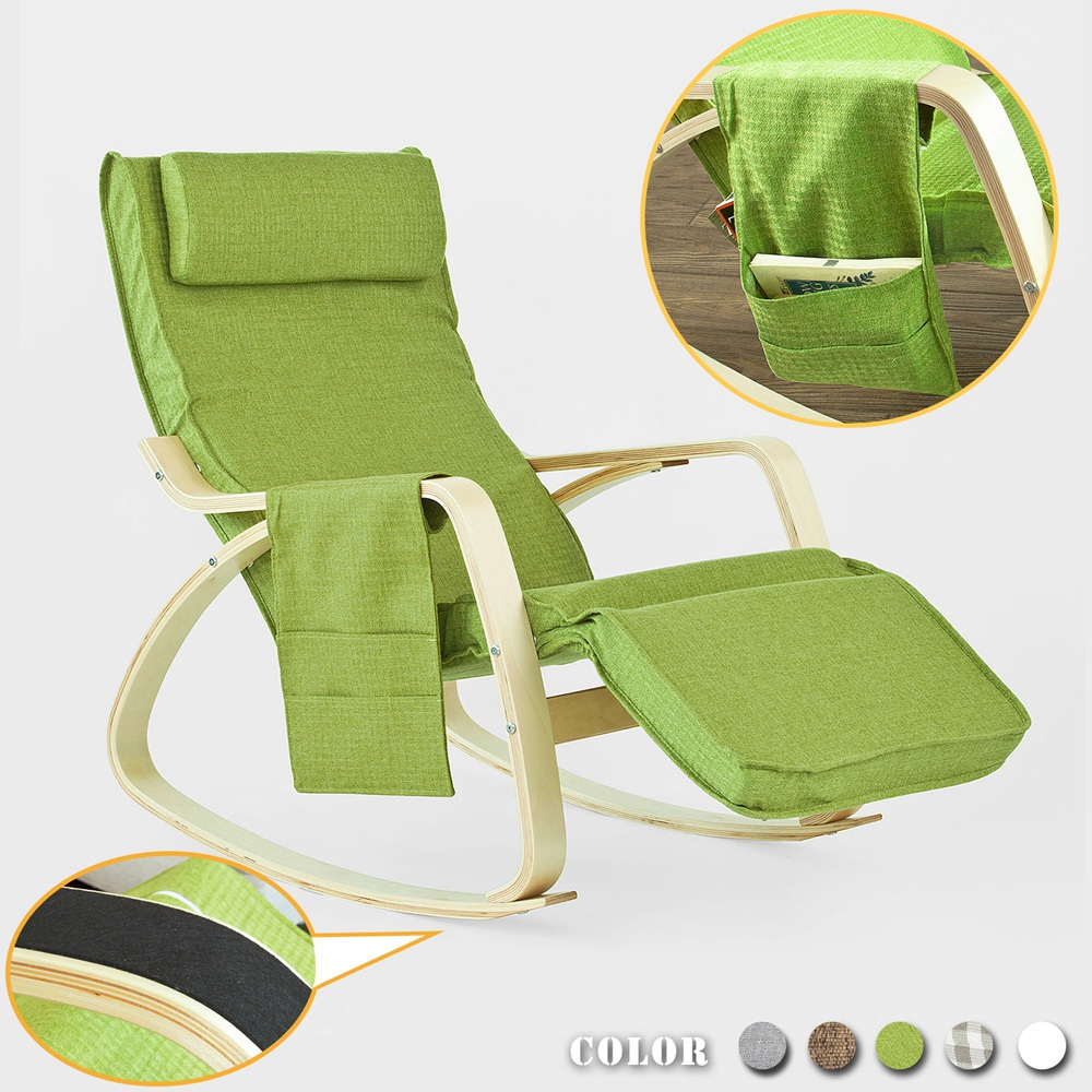 Sobuy Shop Sobuy Fst18 Gr Comfortable Relax Rocking Chair Gliders Lounge