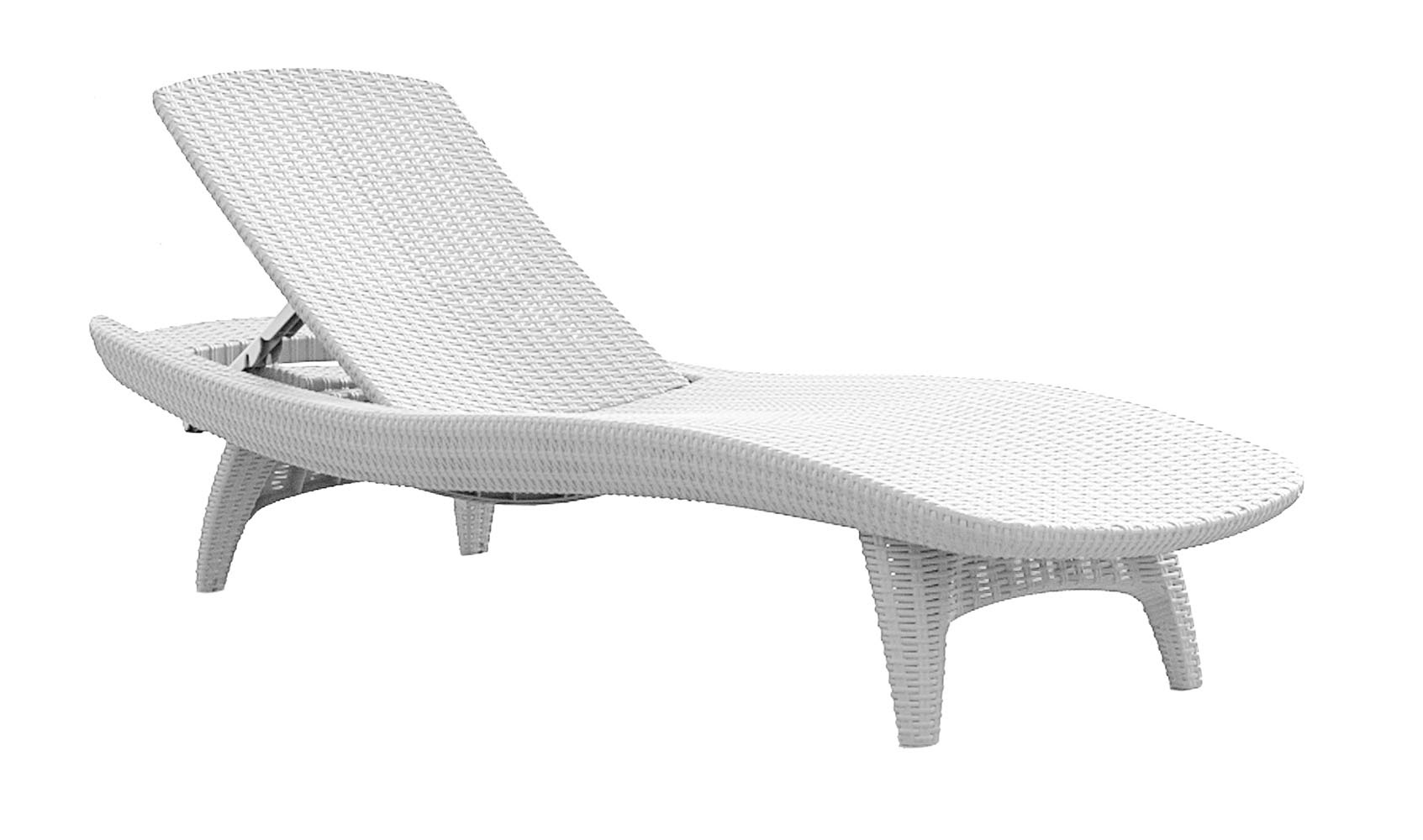 White Sun Lounge Keter Pacific Chaise Sun Lounger 2 Pack Adjustable White