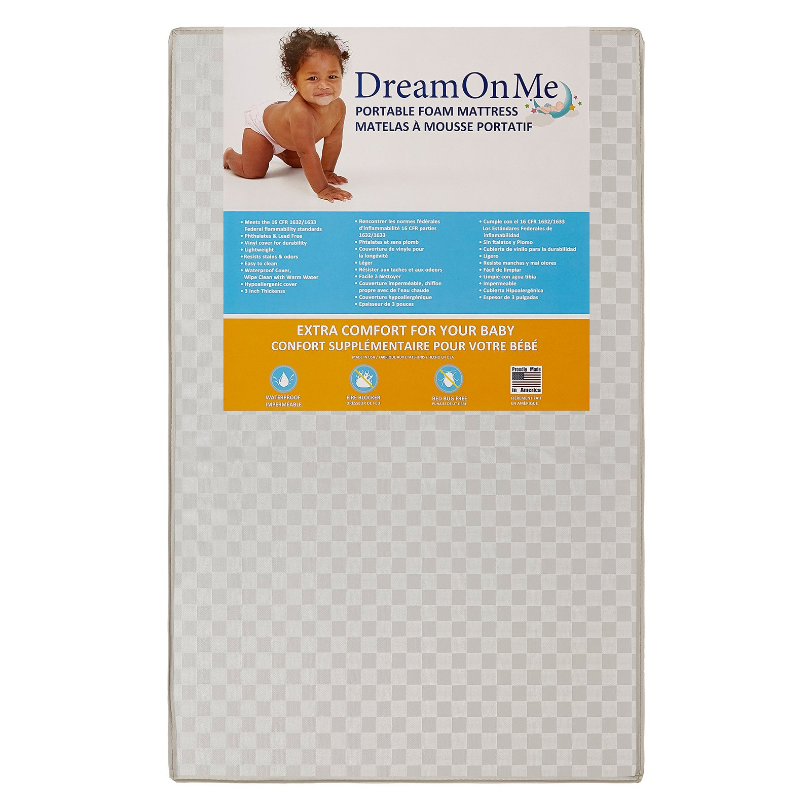 Good Toddler Mattress Dream On Me 3 In Mini Portable Crib Mattress