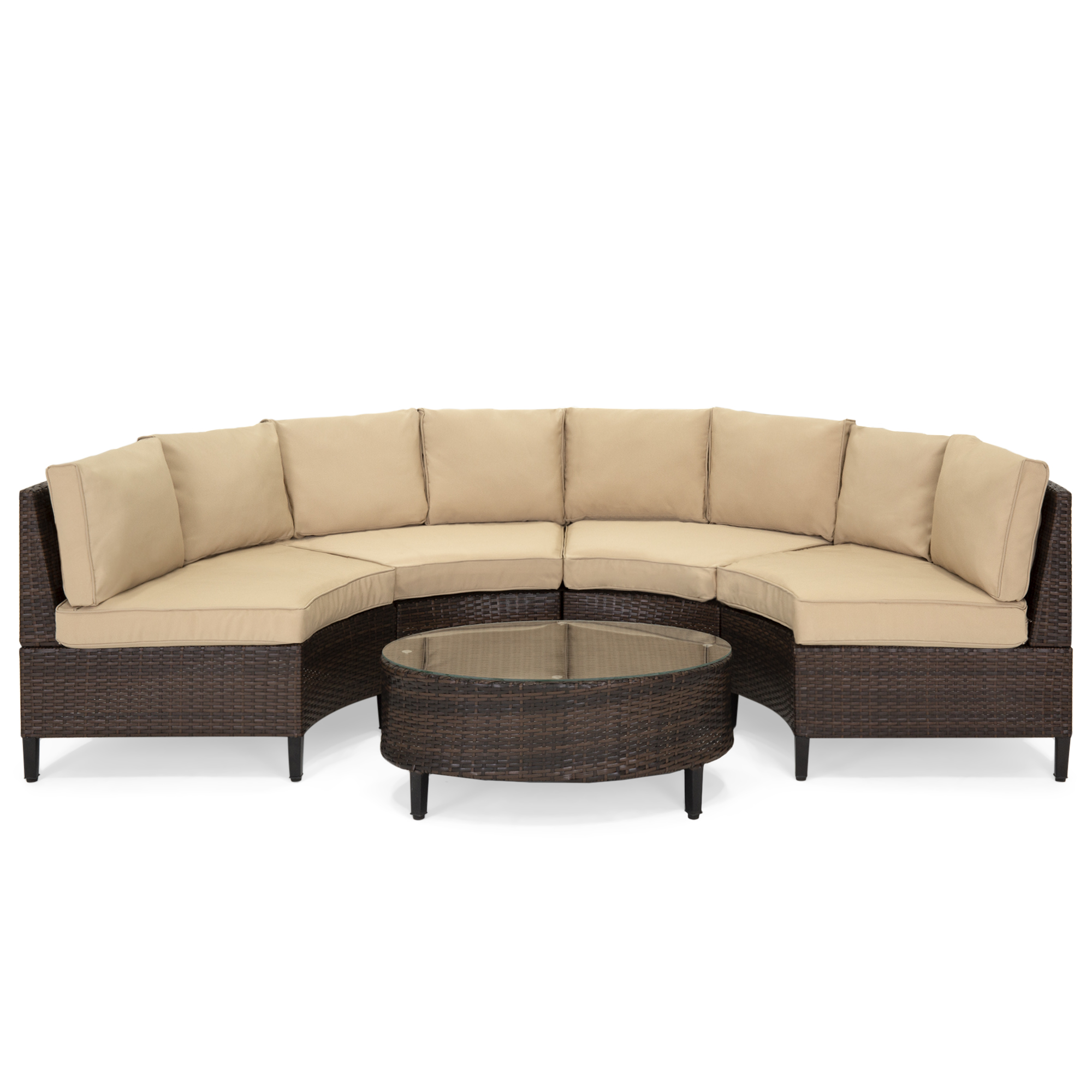 Rattan Sofa Occasion Best Choice Products 5 Piece Modern Outdoor Patio Semi