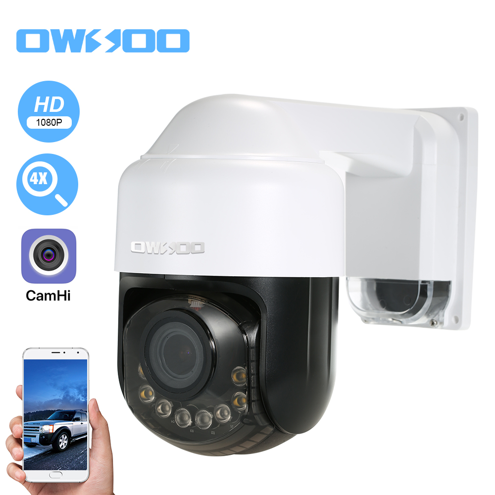 Owsoo Wireless 1080p Camera Wifi Ip Camera For Home Outdoor Monitor With Cell Phone App Two Way Audio Ptz Night Vision Tf Card Slot Motion Alarm 2 8 12mm Optical Zoom Lens