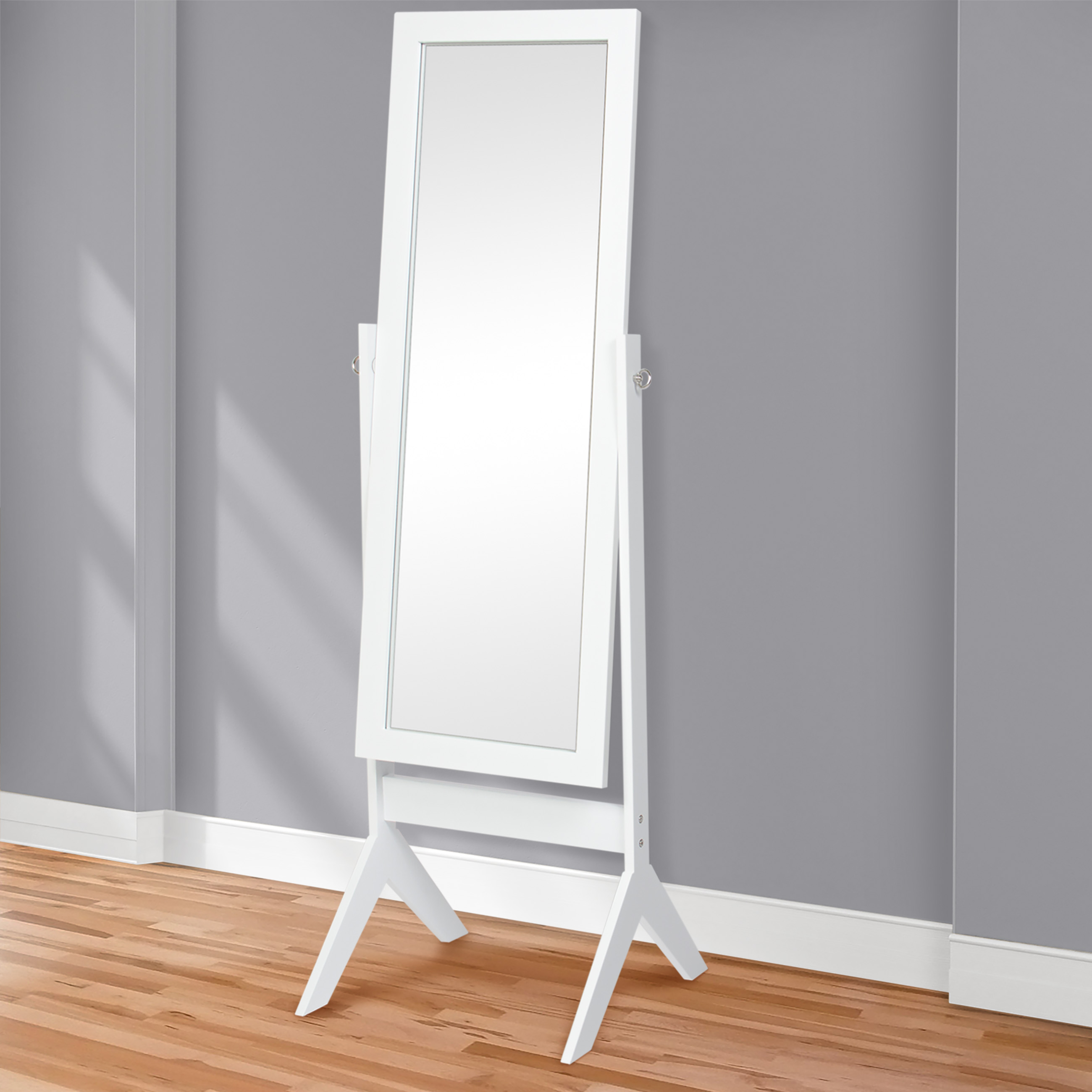 White Floor Mirror Best Choice Products 65