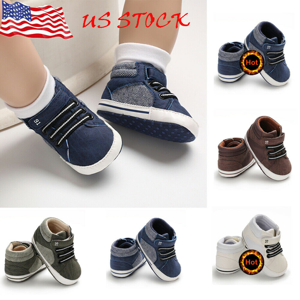 Newborn Crib Shoes Meihuida 18m Newborn Baby Soft Sole Crib Shoes Boys Kids Lace Up Ankle Boots Sneakers Walmart