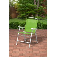 Mainstays Outdoor Folding Sling Chair, Green - Best Patio ...