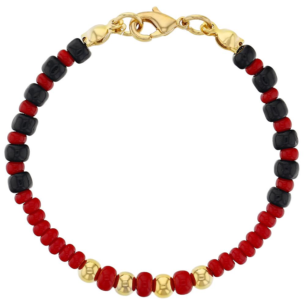18k Gold Plated Evil Eye Baby Bracelet Protection Black