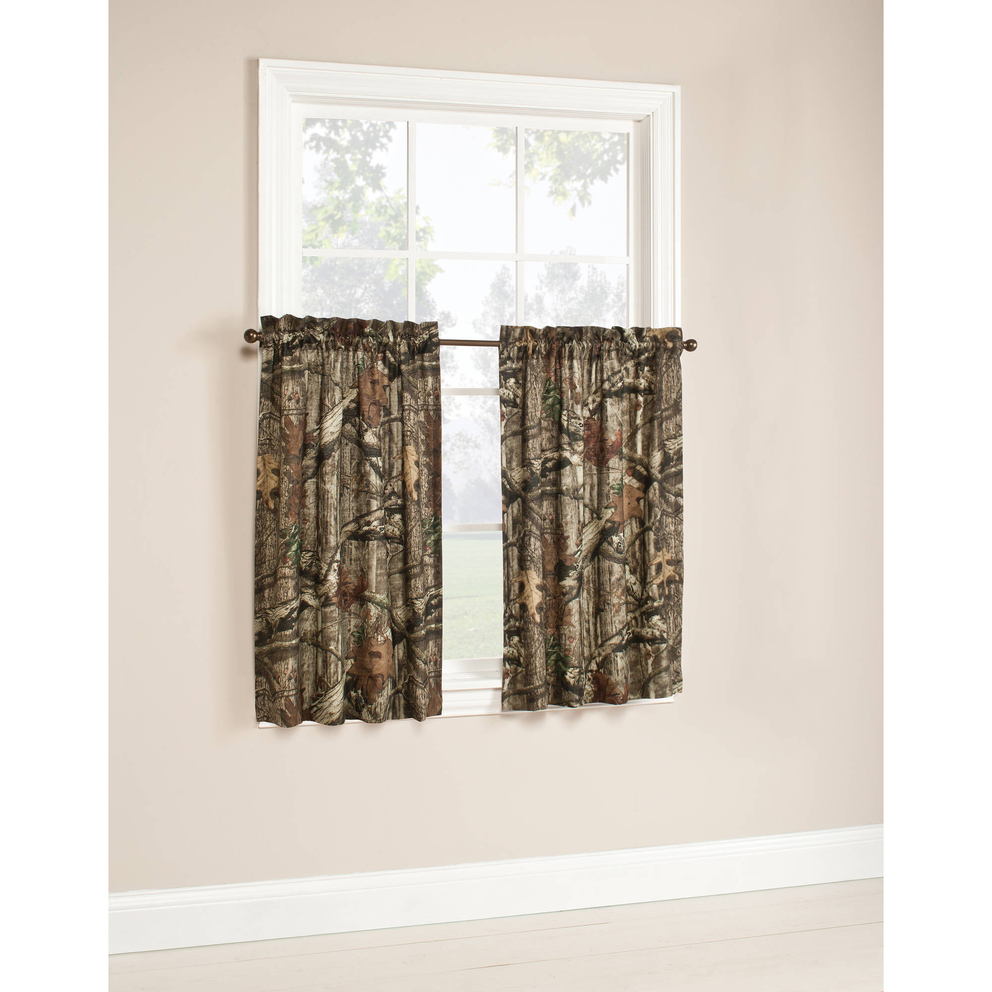 Curtains For Sale At Walmart Mossy Oak Camouflage Curtain Tier Pair 75 Polyester 25