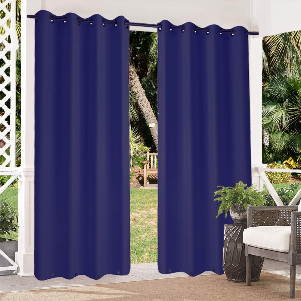 Pro Space 2 Pack Indoor Outdoor Curtains Grommet Curtain On Top And Bottom 50