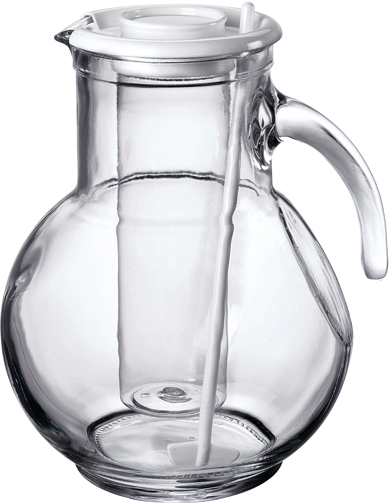 Small Glass Pitcher With Lid Bormioli Rocco Kufra Glass 2 15 Liter Pitcher With Ice