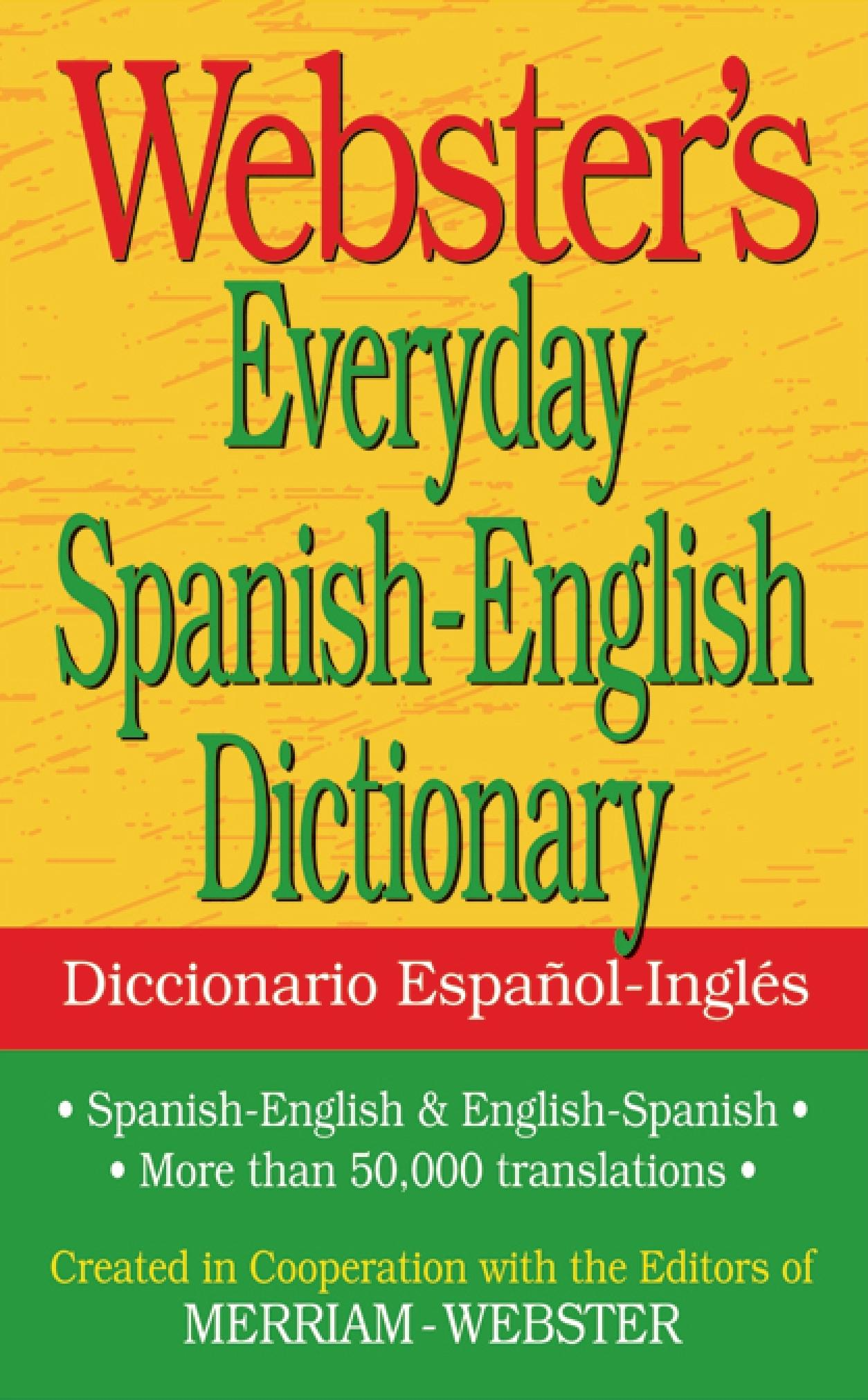 Webster S Everyday Spanish English Dictionary Walmart