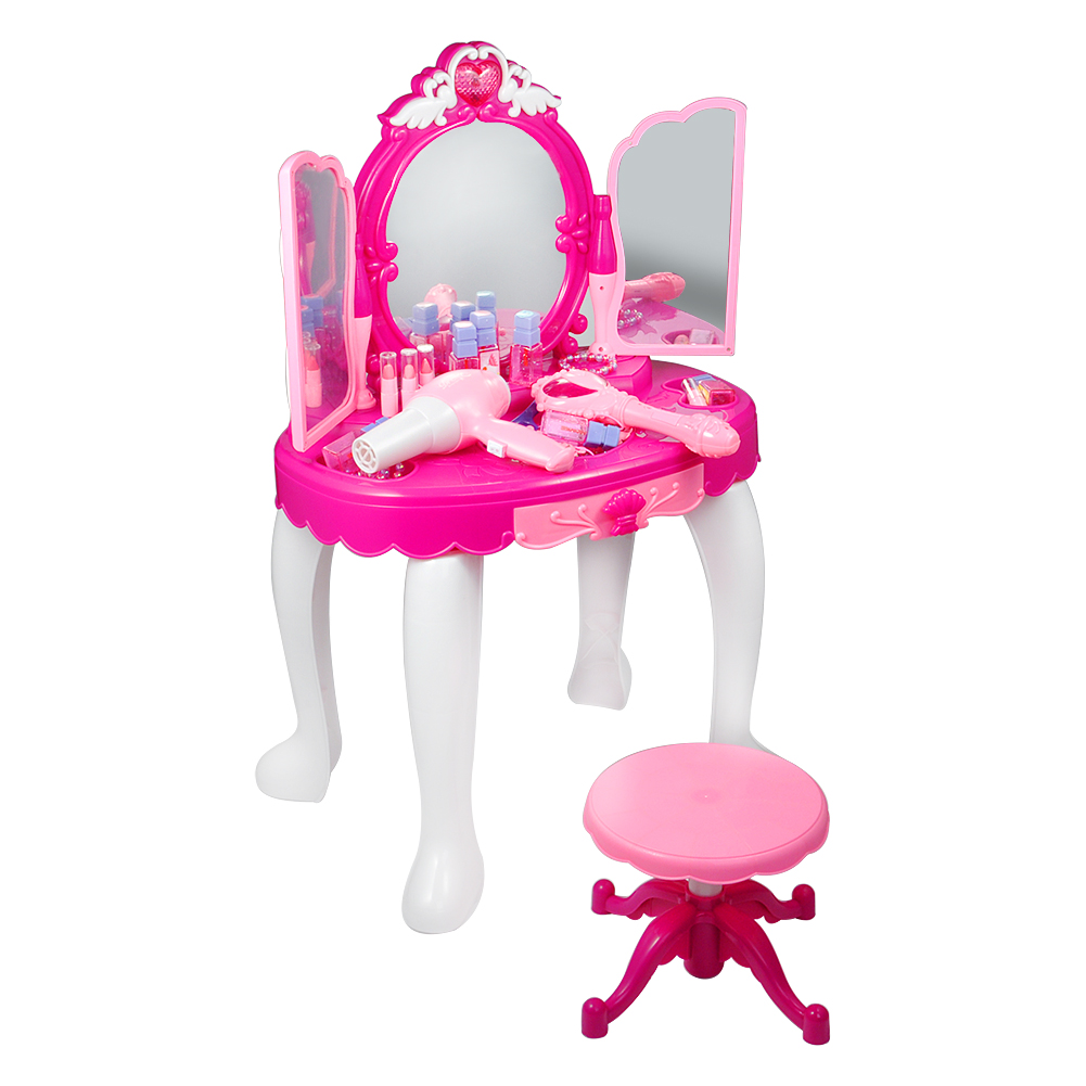 Girls Dressing Table Princess Dressing Table Estink Girls Vanity Dressing Makeup Table With Fairy Infrared Control And Mp3 Music Playing Makeup Mirror Cosmetics And