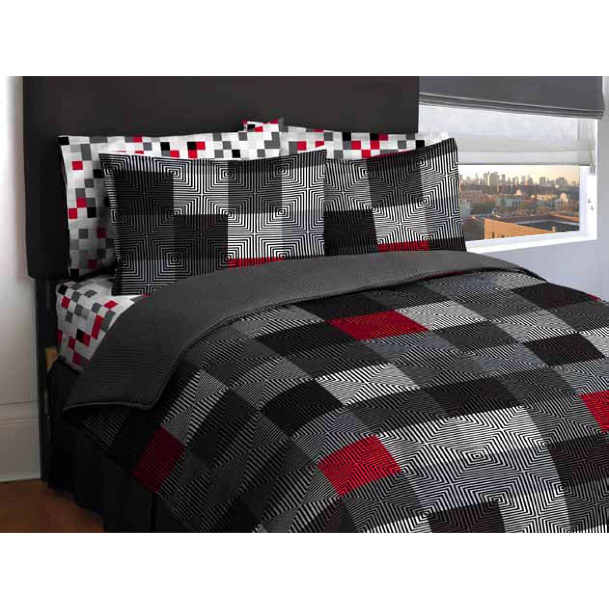 American original geo blocks bed in a bag bedding comforter set walmart com