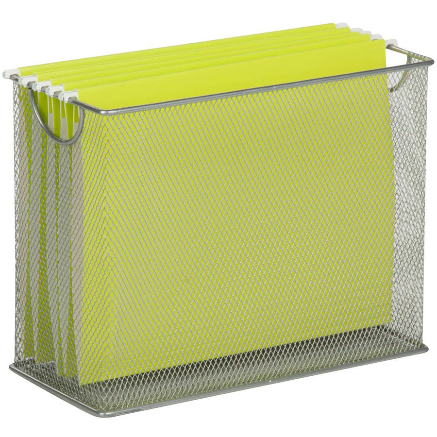 Honey Can Do Table Top Mesh Hanging File Organizer Silver