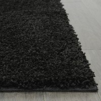 Living Room '5x8' Area Rug Home Decorative Rich Black ...