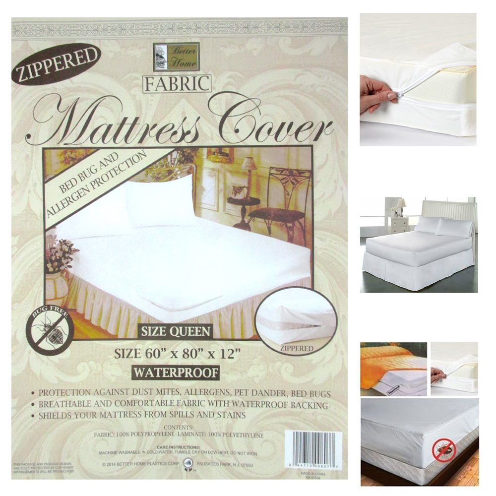 Bed Bugs Mattress Cover 6x Queen Size Zippered Mattress Cover Waterproof Bed Bug Dust Protect Fabric Set