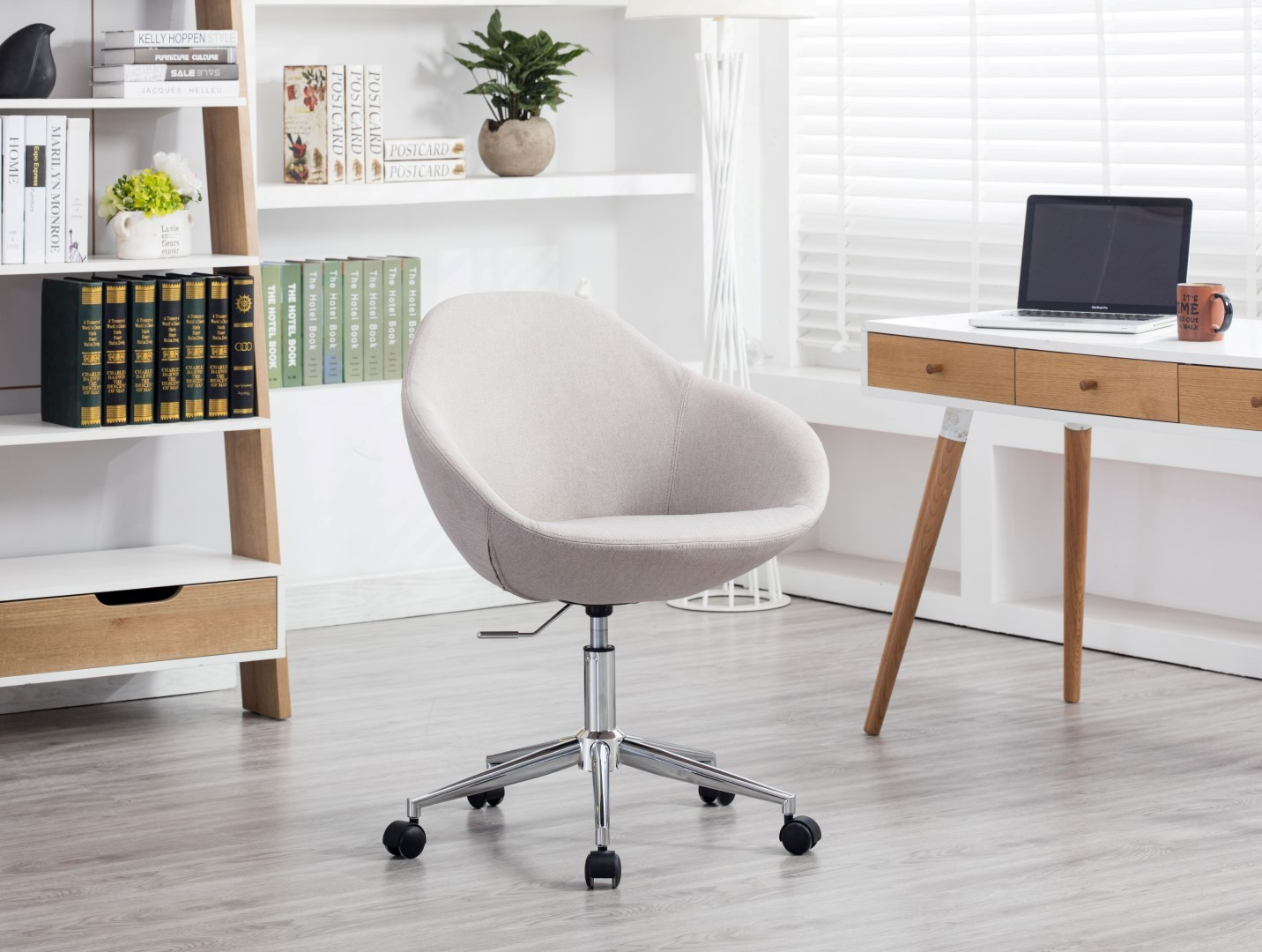 Porthos Home Upholstered Office Chair On Wheels Executive