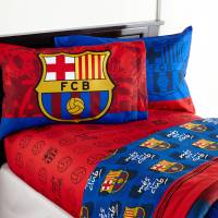 Barcelona 'FCB Soccer' Bedding Sheet Set - Walmart.com