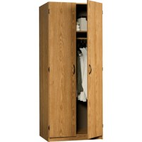 Sauder Beginnings Wardrobe / Storage Cabinet, Oregon Oak ...
