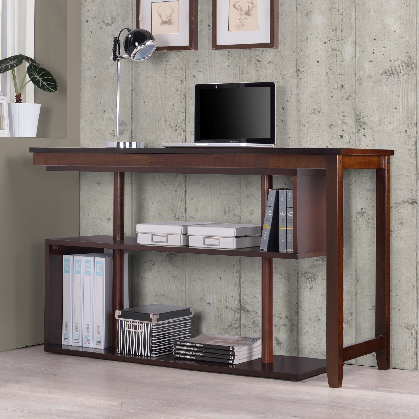 Home Office Hamburg Hamburg Contemporary Virginia Swing Out Desk Classic Espresso