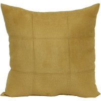 Mainstays Suede Rattan Decorative Pillow, Gold