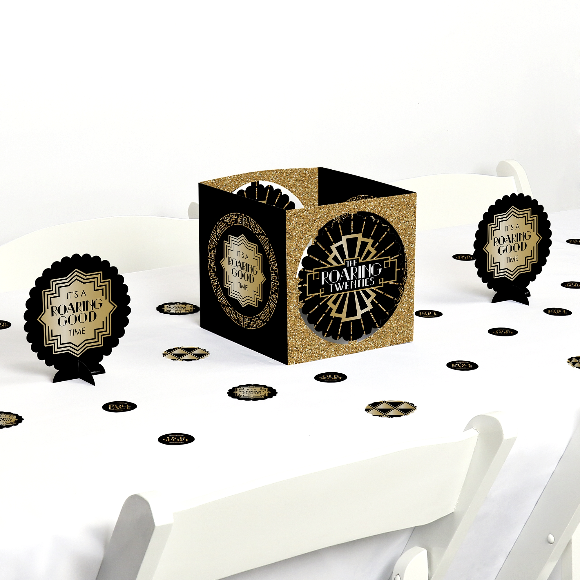 Art Deco Style & Light Roaring 20 S 1920s Art Deco Jazz Party Centerpiece Table Decoration Kit