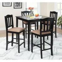Metropolitan Counter Height 5-Piece Dining Set, Black ...