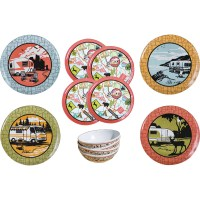 Camp Casual CC-001 RV Camping 12-Piece Outdoor Dinnerware ...