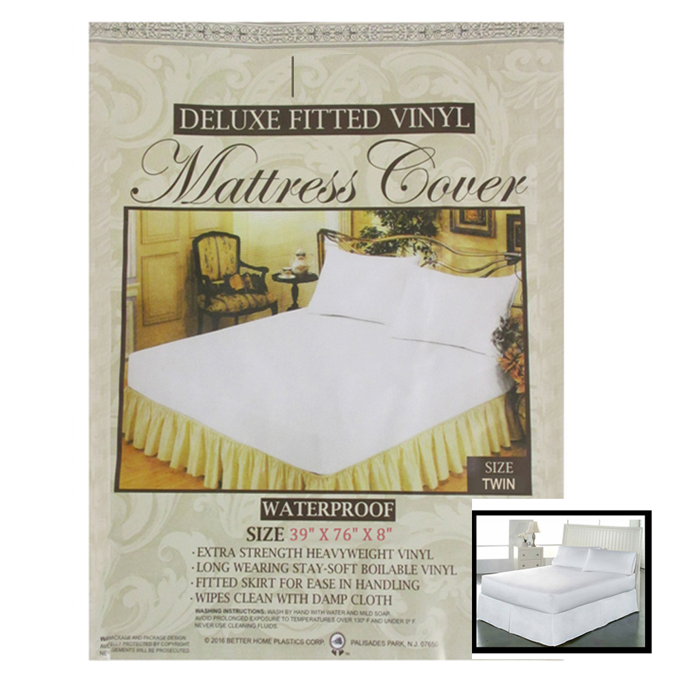 Bed Bugs Mattress Cover 1 Twin Waterproof Mattress Cover Fitted Plastic Allergy Relief Bed Bug