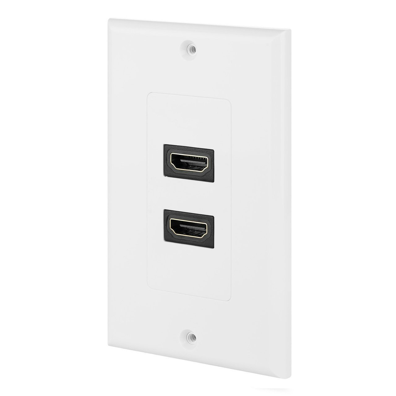 Hdmi Outlet 2port Dual Outlet Decora Hdmi Female Wall Plate White