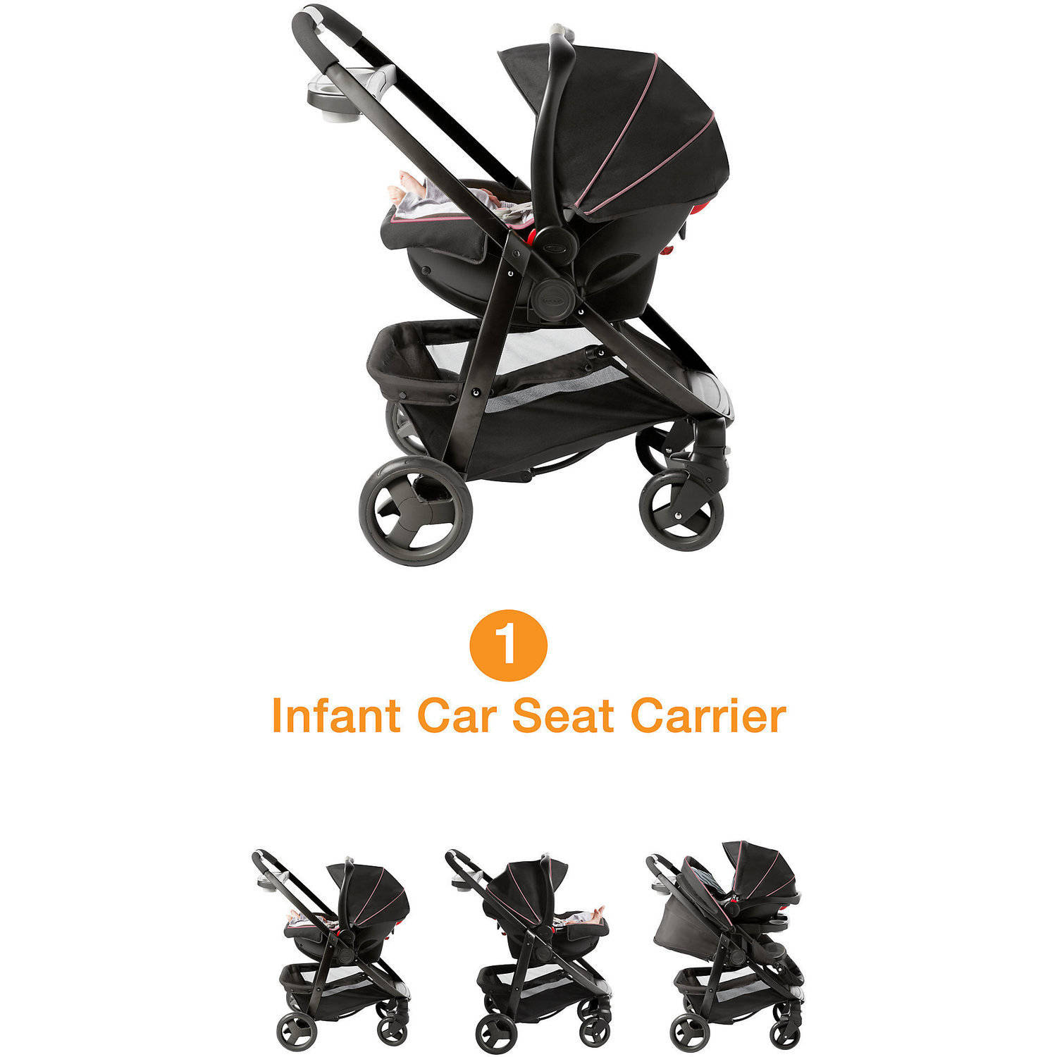 Car Seat Stroller Combo That Grows With Baby Graco Modes Click Connect Travel System Car Seat Stroller