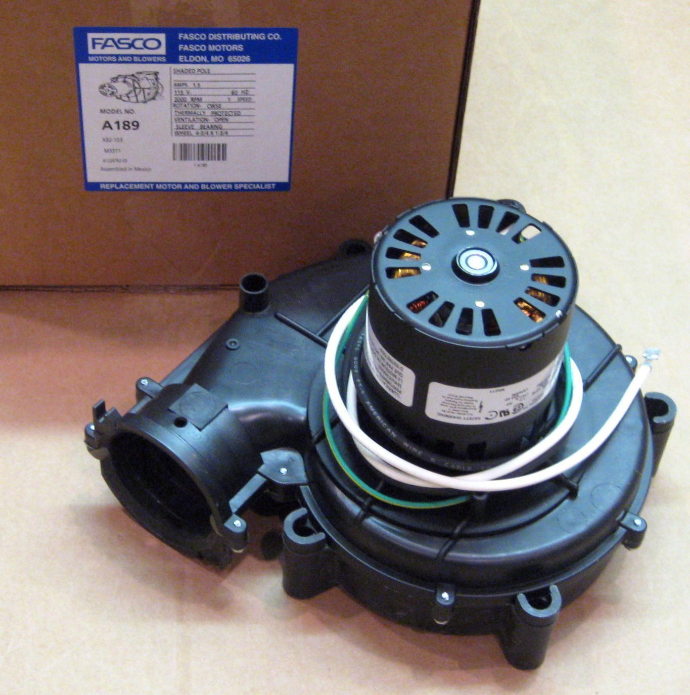 A189 Fasco Inducer Furnace Blower Motor For Goodman 7021