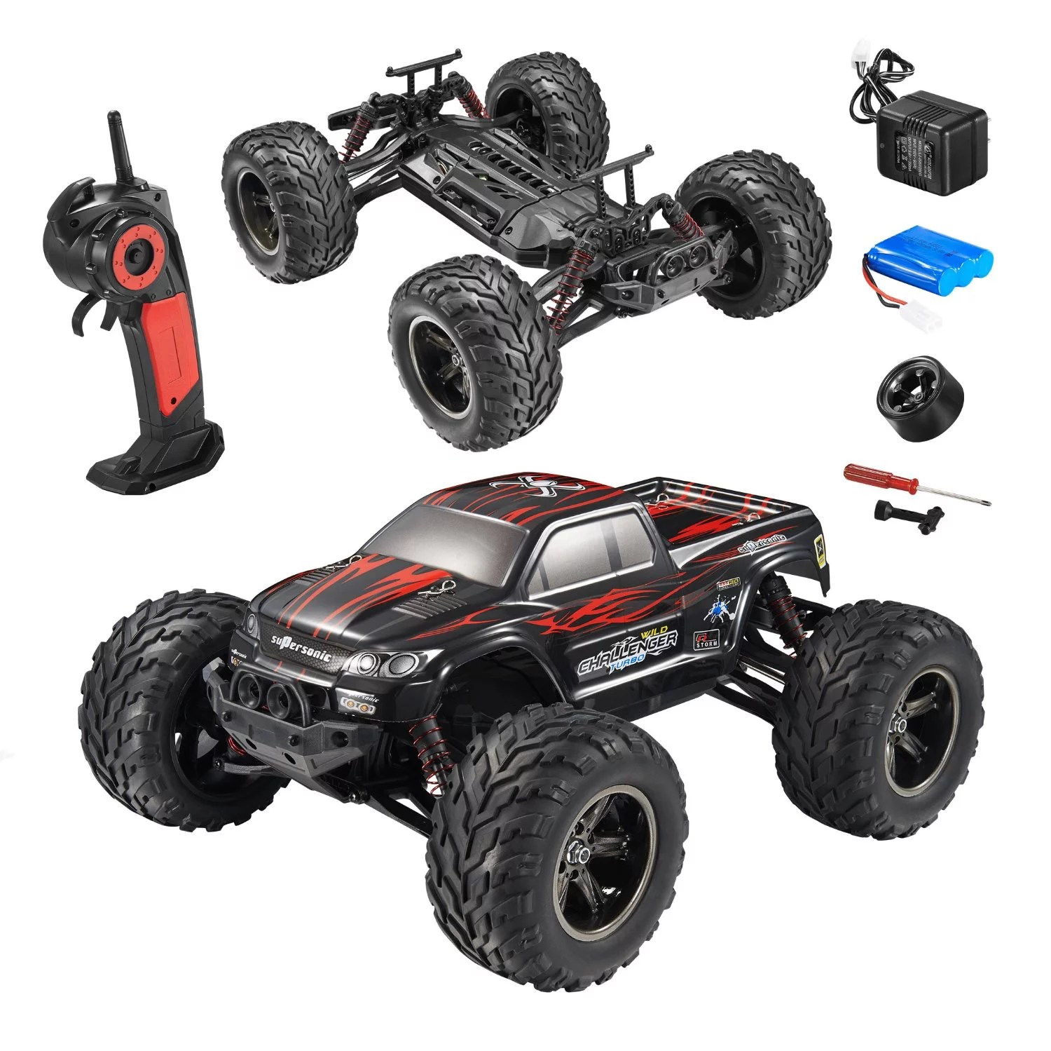 Rtr Rc Trucks Electric Fmt 1 12 Ipx4 Scale Electric Rc Car Offroad 2 4ghz 2wd High Speed 33 Mph Remote Controlled Car Truck Color Red